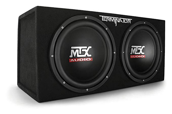 4 MTX Audio Terminator Series TNE212D 1,200-Watt Dual 12-Inch Sub Enclosure Product description