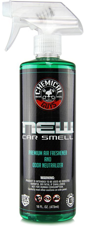 3. Chemical Guys AIR10116 New Car Smell Premium Air Freshener and Odor Eliminator - 16 oz