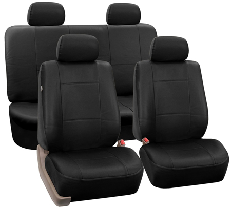 7. Leather Car Front Bucket Seat Covers by FH Group