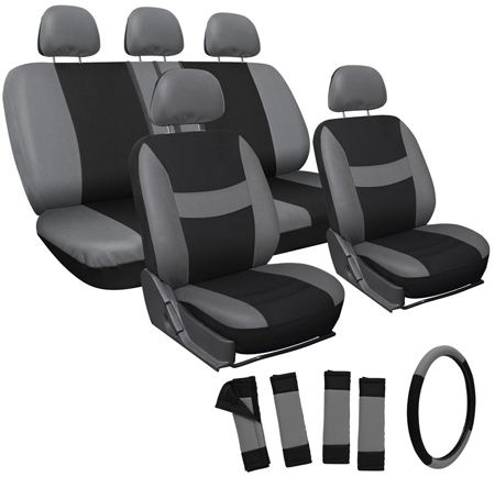 5. 17pc Set Flat Cloth Mesh Seat Covers by OxGord