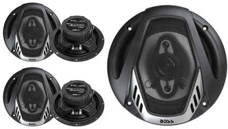 10. NEW BOSS NX654 6.5 800W 4-Way Car Audio Coaxial Speakers Stereo Black 4 Ohm