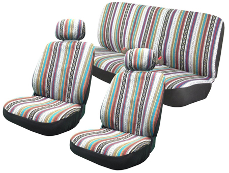 1. Baja Inca 8pc Saddle Blanket Seat Covers Set by Unique Imports