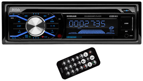 1. Boss 508UAB In Dash CD Car Player USB/SD MP3 Receiver Bluetooth+6.5/6x9 Speakers