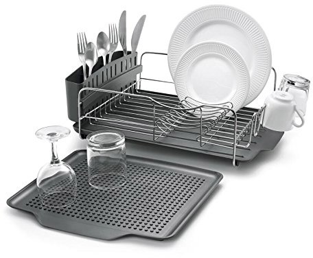 Polder KTH-615 Dish Rack & Tray 4 PC Combo – Advantage System Includes Rack