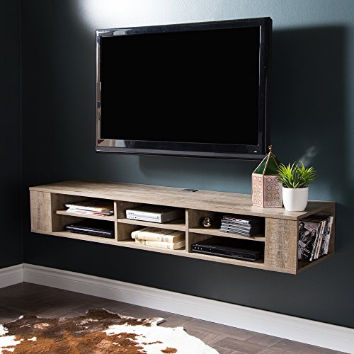 South Shore 9062677 City Life Wall Mounted Media Console