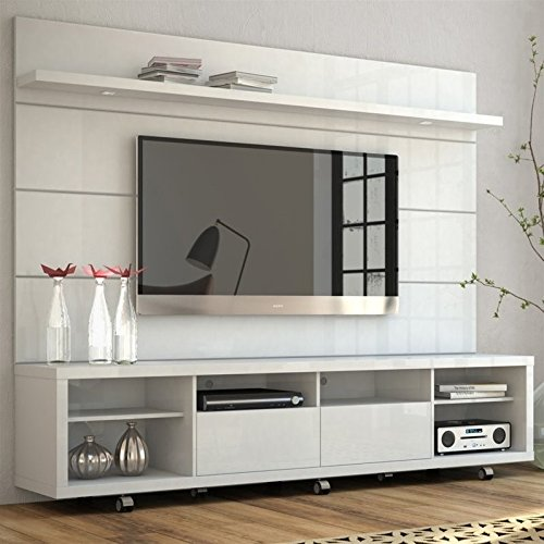 Manhattan Comfort Cabrini TV Stand and Floating Wall TV Panel