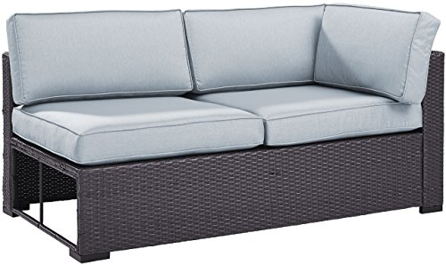 Crosley Furniture KO70129BR-MI Biscayne Outdoor Wicker Single-Arm Loveseat