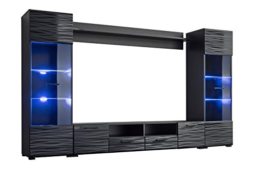 Meble Furniture & Rugs Modica Modern Entertainment Center Wall Unit