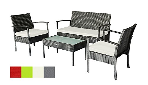 Oakside Small Patio Furniture Set Outdoor Wicker Porch Furniture