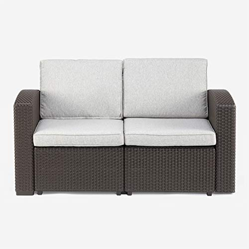 Pamapic Outdoor/Indoor All-Weather Loveseat Furniture with Washable Seat Cushions
