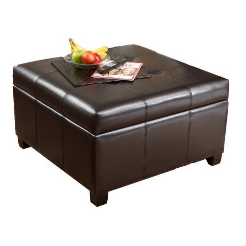 Best Selling | Storage Ottoman | Coffee Table | Square Shaped | Premium Bonded Leather