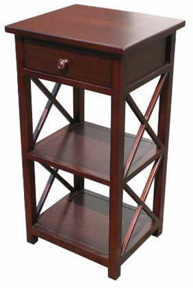 D-ART COLLECTION Mahogany Library Telephone Table