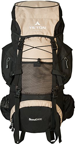 Teton Sports Scout 3400 Internal Frame Backpack; High-Performance Backpack