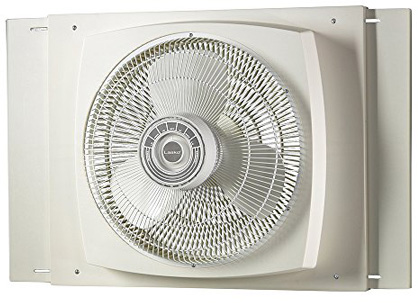 Lasko 2155A 16″ Electrically Reversible Window Fan-Features Storm Guard