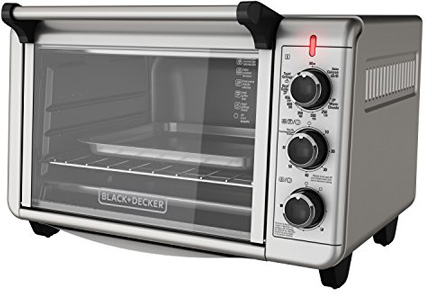 Black + Decker TO3210SSD 6 Slice Convection Countertop Toaster Oven