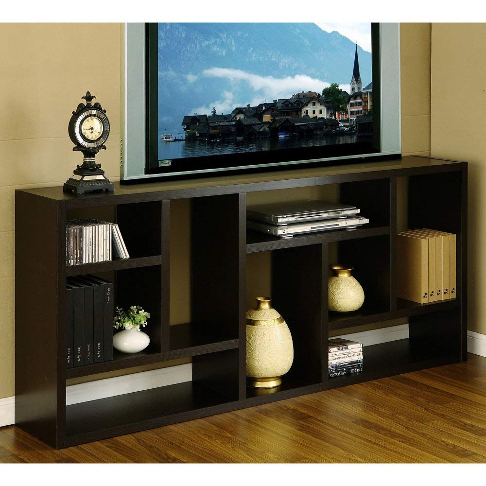 Tv Stand Is Great Display Cabinet and Bookshelf. 3-in-Bookcase Used As Storage