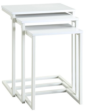 Carolina Chair and Table Madison Nesting Table Set, White