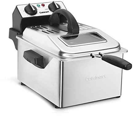 Cuisinart CDF-200 Deep Fryer, 4 quart, Stainless Steel