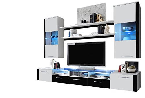 MEBLE FURNITURE & RUGS Wall Unit Modern Entertainment Center