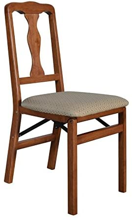 Meco - STAKMORE Queen Anne Folding Chair Cherry Finish