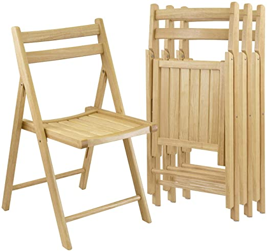Winsome - Robin 4PC Folding Chair Set