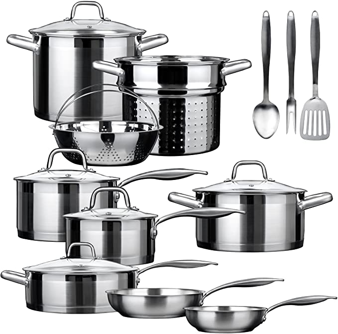 Duxtop - SSIB-17 Professional Stainless Steel Induction Cookware Set