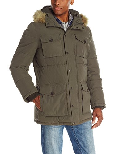Tommy Hilfiger - Men's Micro Twill Full-Length Hooded Parka Coat