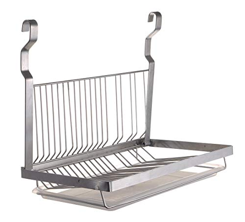 TQVAI Hanging Dish Drying Rack with Drain Board