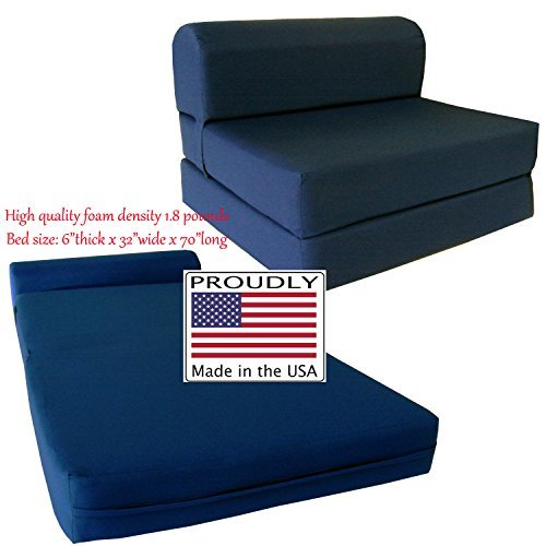 D&D Futon Furniture Sleeper Chair Folding Foam Bed