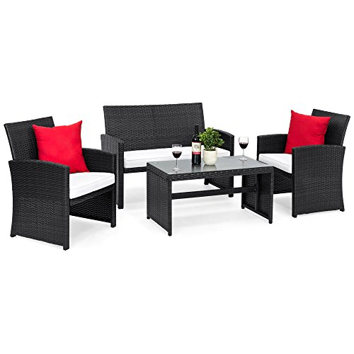Best Choice Products 4 Piece Wicker Patio Furniture Set