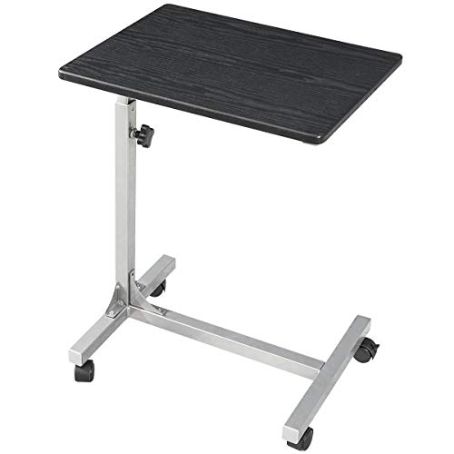 Coavas Over Bed Table C Side Rolling Table with Lockable Wheels