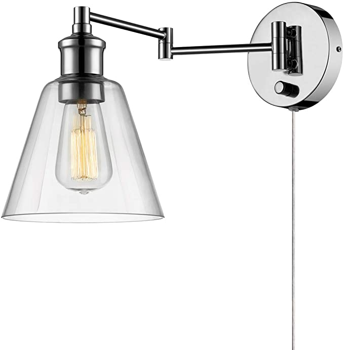 Globe Electric - Light Plug in or Hardwire Industrial Wall Sconce