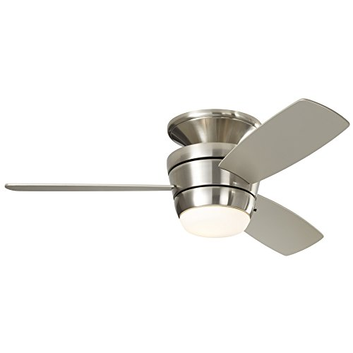 Harbor Breeze - Mazon Brushed Nickel Flush Mount Indoor Ceiling Fan
