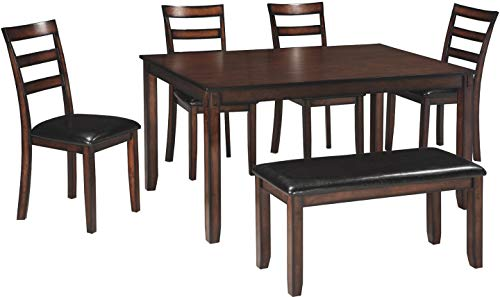 Signature Design by Ashley - Coviar Dining Room Table and Chairs with Bench