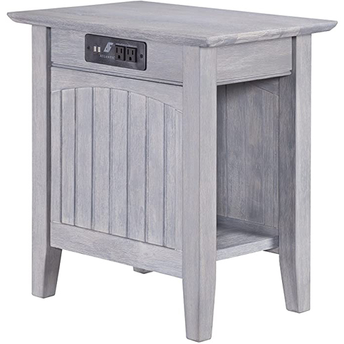 Atlantic Furniture Nantucket Chair Side Table with Charging Station