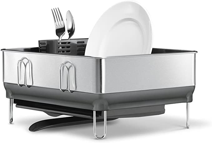 simplehuman - Kitchen Compact Steel Frame Dish Rack