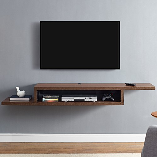 Martin Furniture - Asymmetrical Floating Wall Mounted TV Console