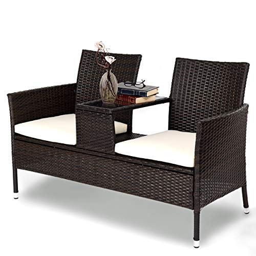 Tangkula - Outdoor Furniture Set with Cushions