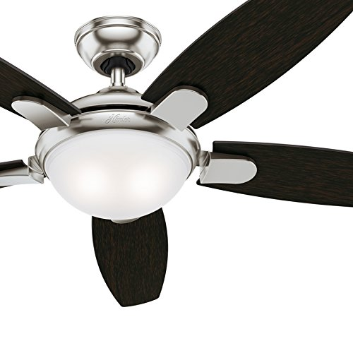 Hunter - Ceiling Fan in Brushed Nickel with LED Light (Amazon Renewed)