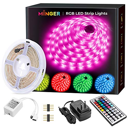 MINGER Color Changing LED Strip Lights with Remote