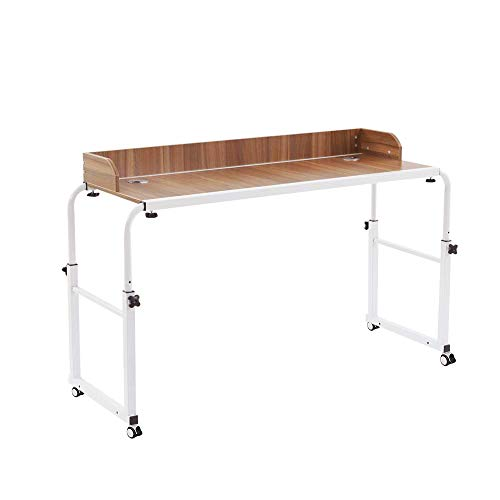 NOVII Adjustable Over Bed Table Laptop Cart with Wheels