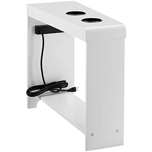 Naomi Home Jade Chairside Table with USB Ports
