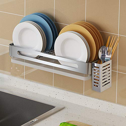 Junyuan Hanging Dish Drying Rack Wall Mount Over the Sink