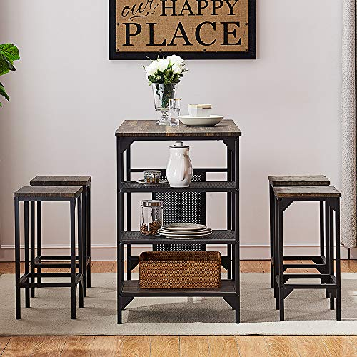 O&K FURNITURE - 5-Piece Dining Room Table Set
