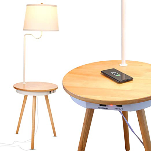 Brightech Owen End Table with Wireless Charging Station