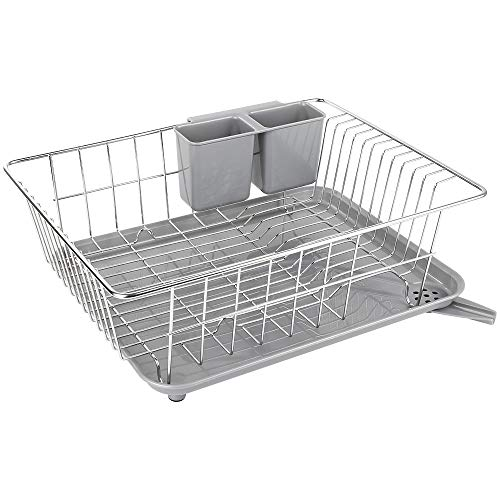 WHITGO - Dish Drying Rack with Drain Board