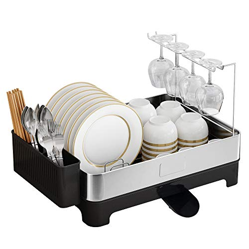 Junyuan Dish Drying Rack With Glass Holder