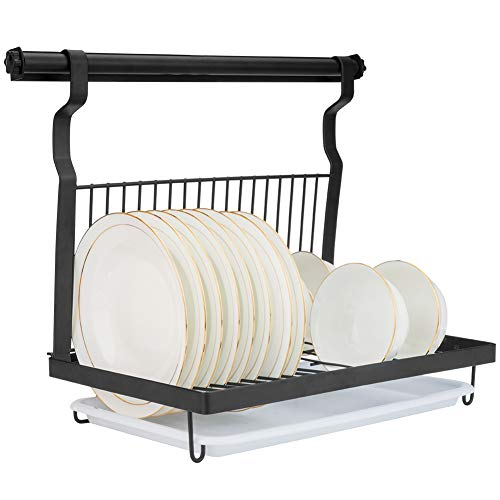 Eastore Life Wall Mounted Dish Rack with Hanging Rod