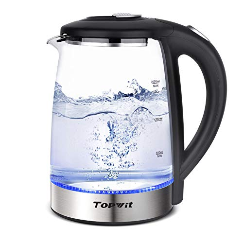 Topwit Electric Kettle Glass Hot Water Kettle