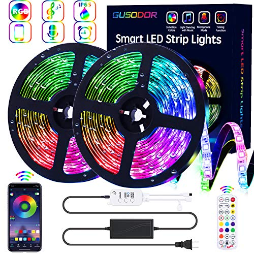 GUSODOR LED RGB Strip Lights with Bluetooth Controller